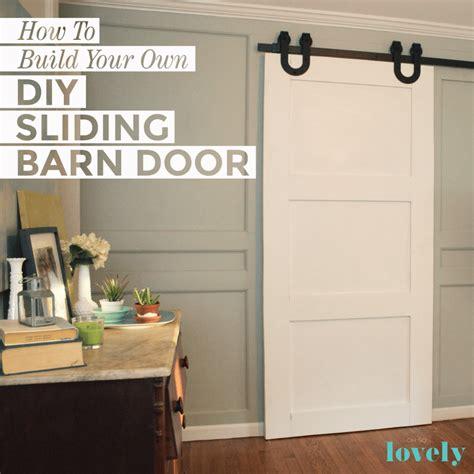 build   diy sliding barn door  compete