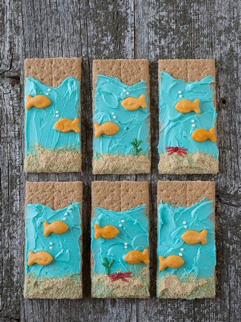 sea graham crackers edible crafts