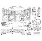 Recortables De Navidad  Nacimiento Jes&250s Dibujos Para Recortar