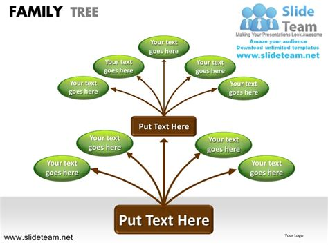 How To Make Create Geneology Family Tree Powerpoint How To Make A Family Tree In Powerpoint