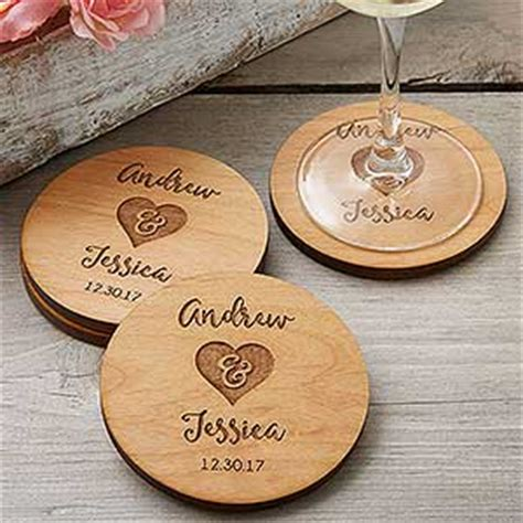 Wedding Favors Coasters by Rustic Wedding Favors Personalized Coasters