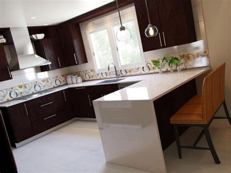 White Kitchen Backsplash by Simple Kitchen Designs Modern Kitchen Designs Small