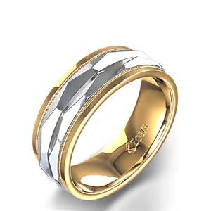 Paisley Design Hand Carved Wedding Band in 14k White Gold