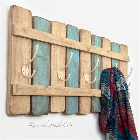 Accessories Ideas Handmade - shabby chic wood coat rack handmade decor ideas for
