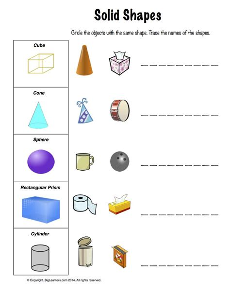 Solid Shapes Worksheets by 28 Worksheets On Solid Shapes For Grade 2 Plane