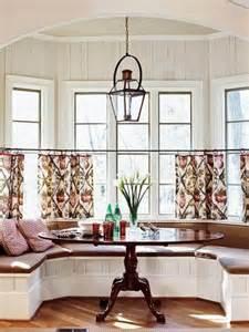 Kitchen Nook Curtains by Window Treatment Design Ideas