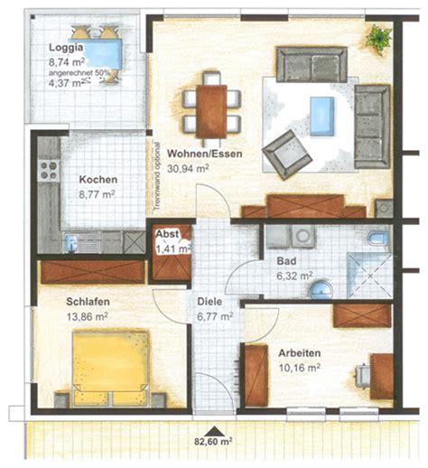 wohnung 60 m2 grundriss haus 1 wohnungstypen