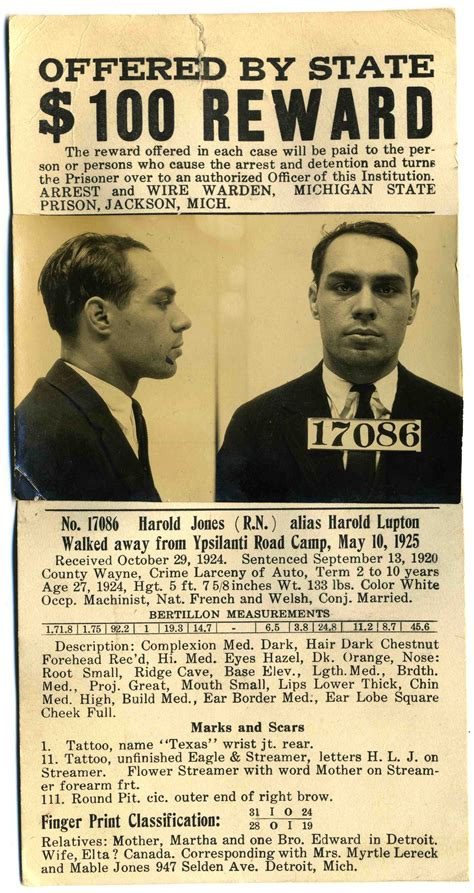 wanted posters with real photos 1920s mugshots and