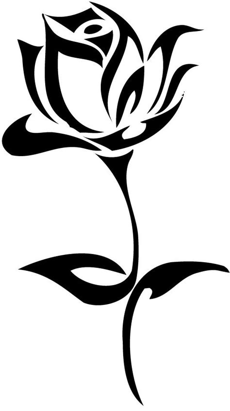 fresh tribal rose tattoo stencil deviantart more like crossini bakery logo by clipart