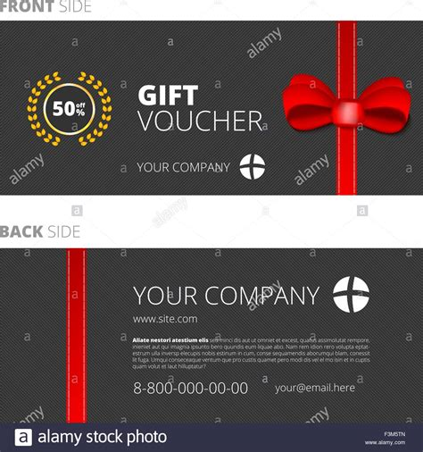 design gift card template design of voucher and gift certificate coupon template