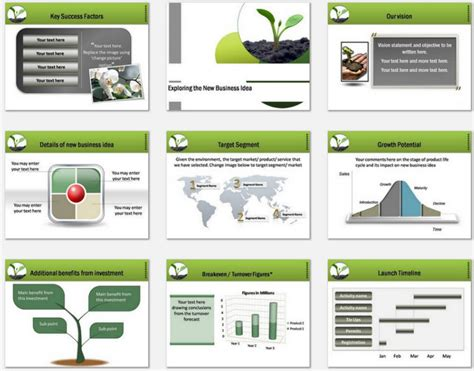 Powerpoint Business Plan Growth Template Powerpoint Business Plan Template