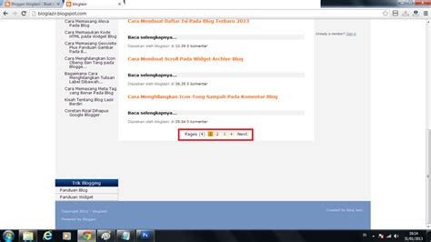 kegunaan dari format background adalah cara membuat tombol next angka pada halaman blogger