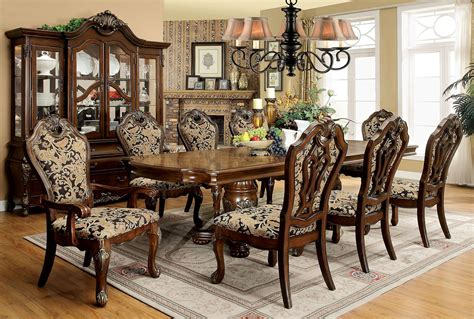 extendable dining sets vicente cherry extendable rectangular dining room set