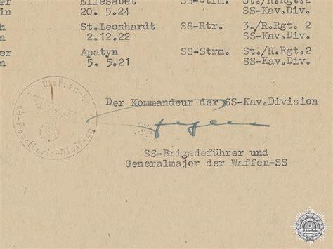 Ss Signature a signature of ss panzer commander hans fegelein