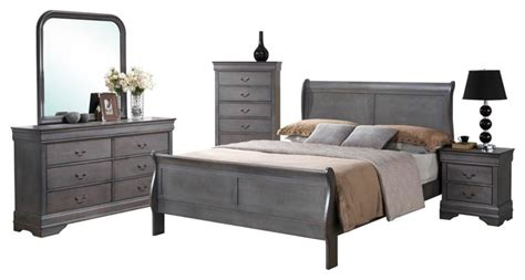 gray bedroom furniture sets 5 piece driftwood sleigh bedroom collection gray queen