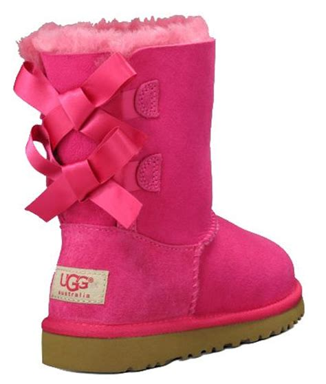 pink ugg boots with bows footwear and fashion clothing from all the leading