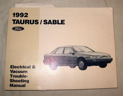 car maintenance manuals 1992 ford taurus navigation system buy 1992 ford taurus sable electrical vacuum trouble shooting manual auto service motorcycle
