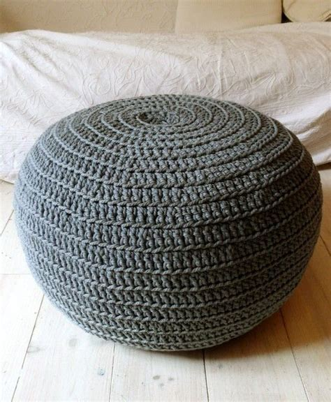 grey pattern pouf pouf crochet big gray grey ottomans and patterns