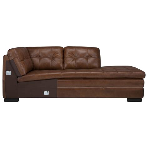large brown leather sectional city furniture trevor md brown leather large right bumper