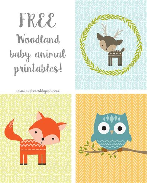 printable animal pictures for nursery free printable woodland animals for kids and nursery