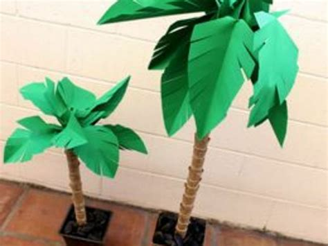 How To Make A Paper Palm Tree - how to make a paper palm tree