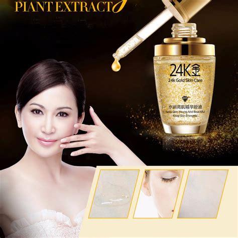 Dijamin Bioaqua Serum Wajah Emas 24k Gold Essence Skin Care 30ml bioaqua 24k gold essence anti aging serum wajah emas 24k elevenia