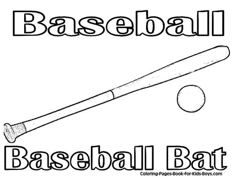 transmissionpress baseball bat and ball coloring page