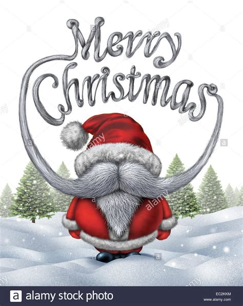 merry christmas santa clause inscription   funny santa   stock photo  alamy