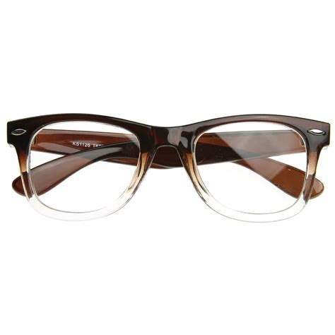 two tone classic clear lens horn rimmed glasses rx able