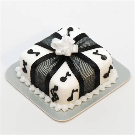 Black And White Interior Decor Square Music Note Cake Stewart Dollhouse Creations