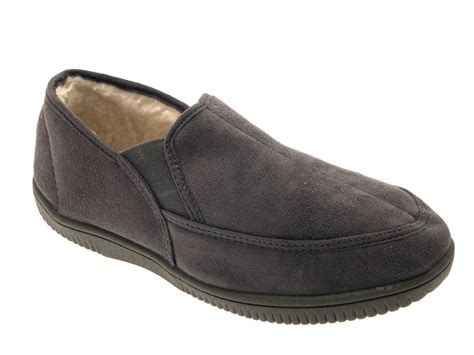 mens fur lined slipper boots mens slippers moccasins mules faux suede fur lined faux