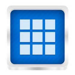 App Drawer Icon - Boxed Metal Icons - SoftIcons.com