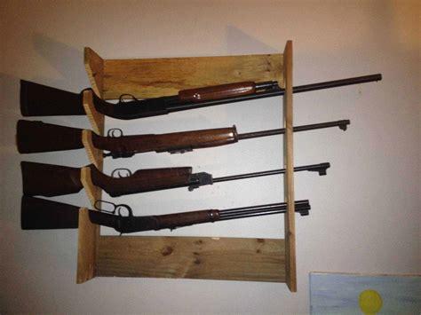 simple pallet gun rack  pallets