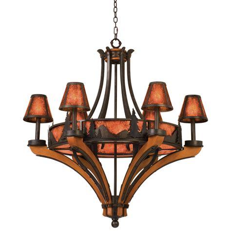 Rustic Chandeliers Aspen Treescape Chandelier With 6 6 6 Light Chandelier