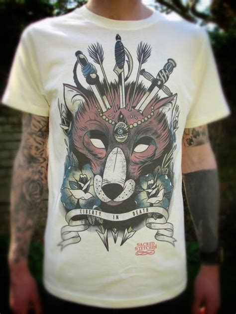 tattoo flash clothing foxes men s t shirts and t shirts on pinterest