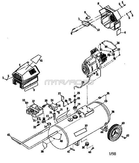 sears craftsman 919 165330 air compressor parts