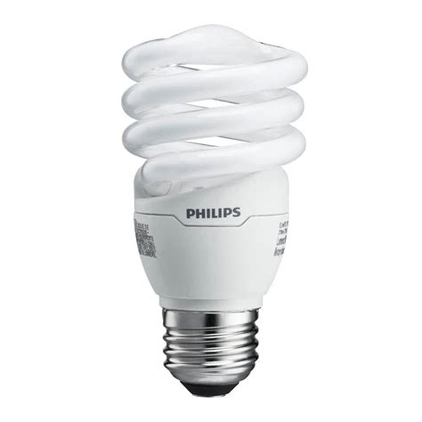 Lu Philips Spiral 5 Watt philips 60 watt equivalent t2 spiral cfl light bulb soft