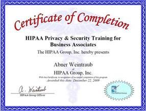 Hipaa Certification Letter My Hipaa Training