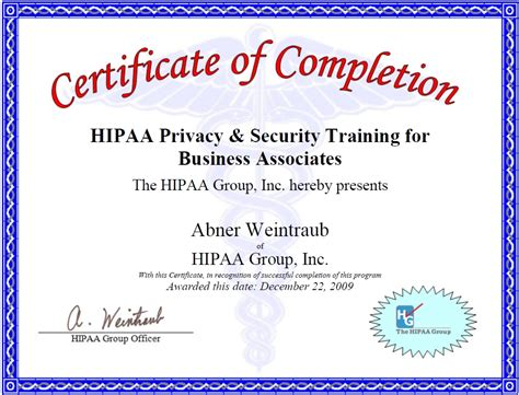 hipaa certificate template 28 images hipaa certificate