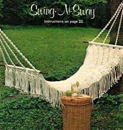 macrame swing chair pattern macrame patterns hammock sling chair footstool swing