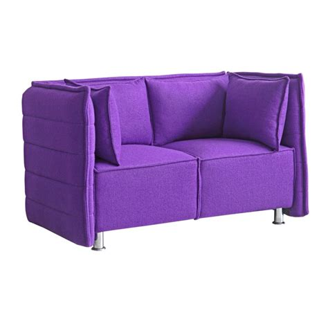 purple loveseats fine mod imports sofata loveseat in purple beyond stores