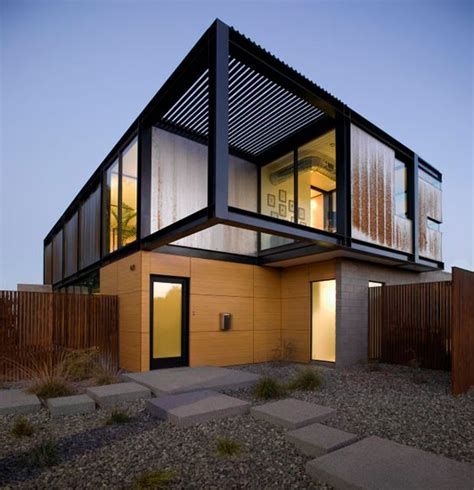 modern architecture styles contemporary house in arizona with industrial chic style