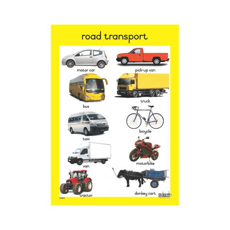 theme road transport a2 single chart grow learning