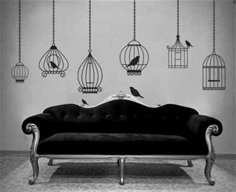 home interior bird cage bird image for wall decoration modern wallpaper stickers