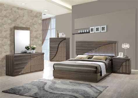 contemporary gold zebra led bedroom set houston texas global north