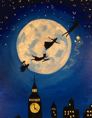 paint nite pass learn to paint fly to neverland