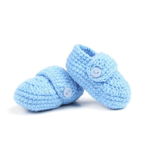 blue baby shoes blue knitted newborn baby shoes baby booties