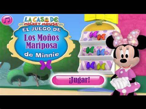 la casa de minnie en espa ol la casa de mickey mouse el juego de los mo 241 os mariposa de