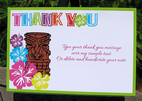 free printable luau thank you cards luau birthday party invitations luau decorations