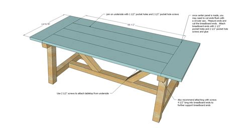 beam plans ana white 4x4 truss beam table diy projects